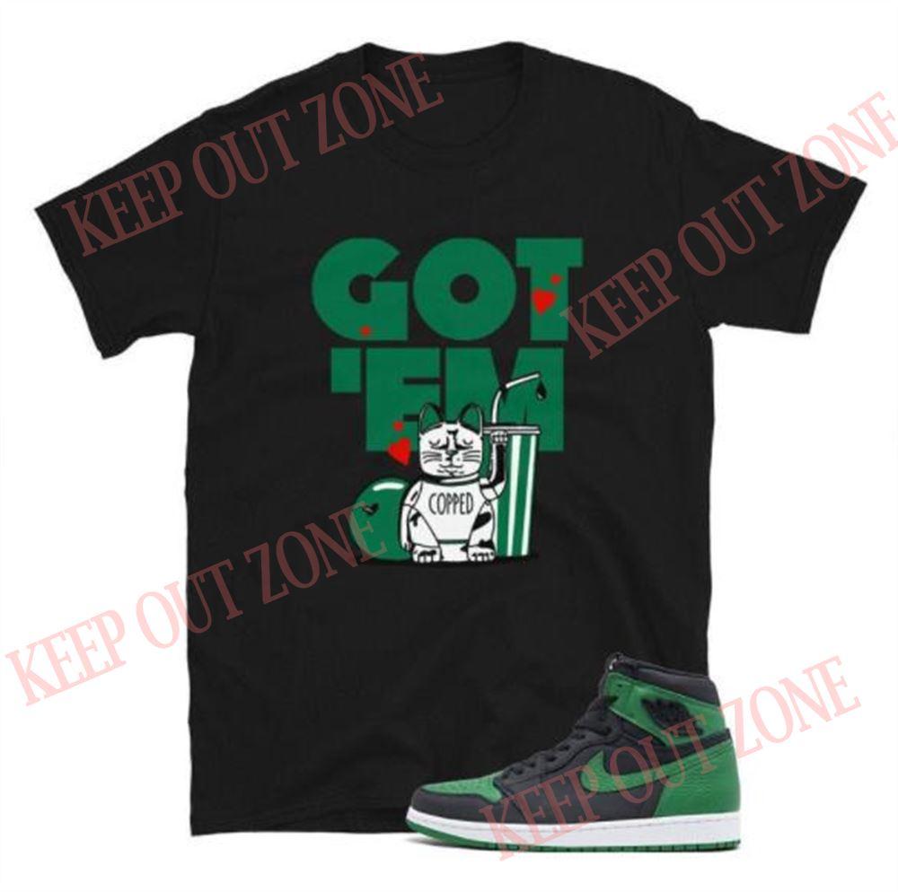 Terrific Tees Jordan 1 Pine Green Tee Copped Got _em Short-sleeve Unisex T-shirt So Epic