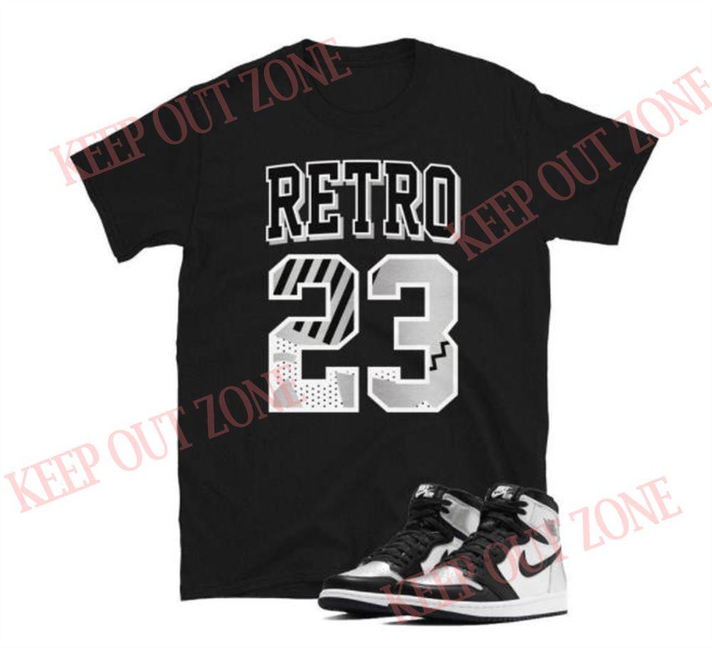 Great Tee Jordan 1 Retro Silver Toe Unisex T-shirt So Wonderful