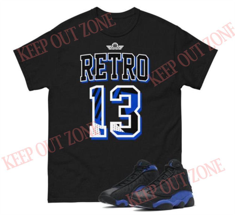 Great Tee Jordan 13 Hyper Black Royal Unisex T-shirt For Men And Women