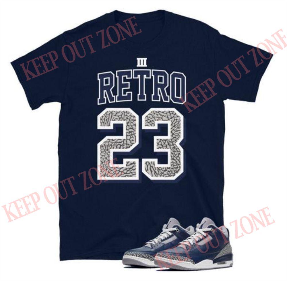 Terrific Jordan 3 Retro Georgetown Unisex T-shirt Hot 2021
