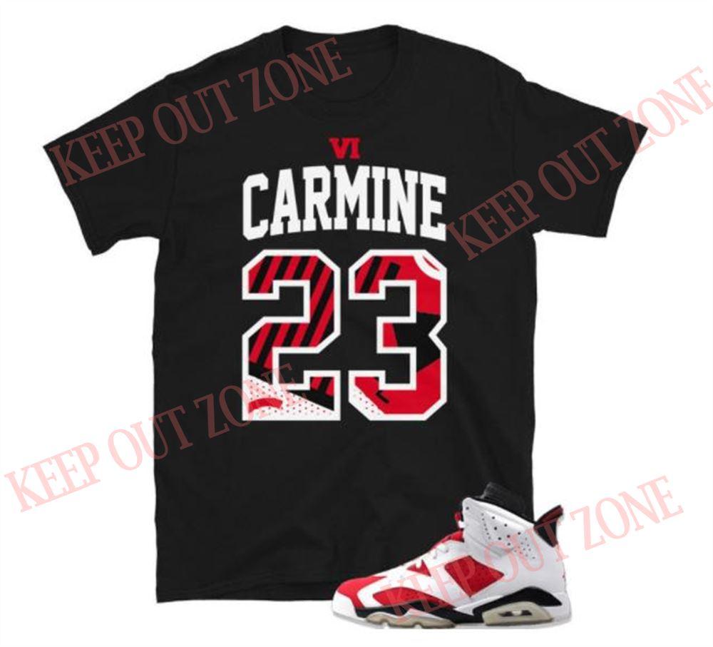 Awesome Tees Jordan 6 Retro Carmine Unisex T-shirt Brilliant T-shirt