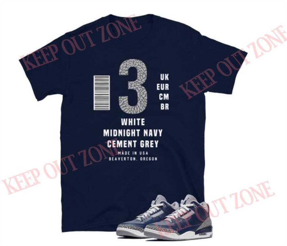The Bees Knees Tee Shirt Label Tee Jordan 3 Retro Georgetown Unisex T-shirt So Beautiful