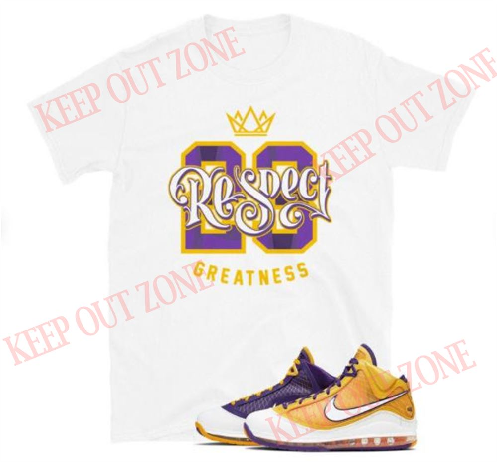 Awesome Tees Lebron 7 Media Day Tee Respect Goat Unisex T-shirt Hot 2021
