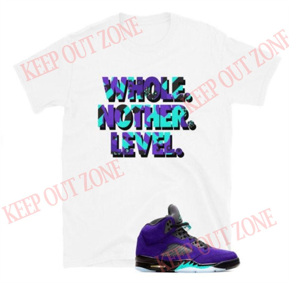 Great Level Up Tee Jordan 5 Retro Purple Grape Unisex T-shirt So Fabulous