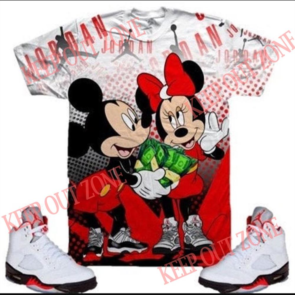Fantastic Mickey _ Minnie Mouse Shirt Jordan 4 Fire Red Jordan Bred 11 So Epic
