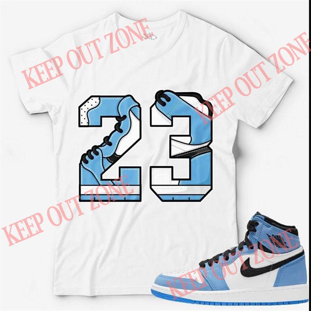 Great Number 23 Unisex T-shirt Match Jordan 1 Retro High Og University Blue Marvelous