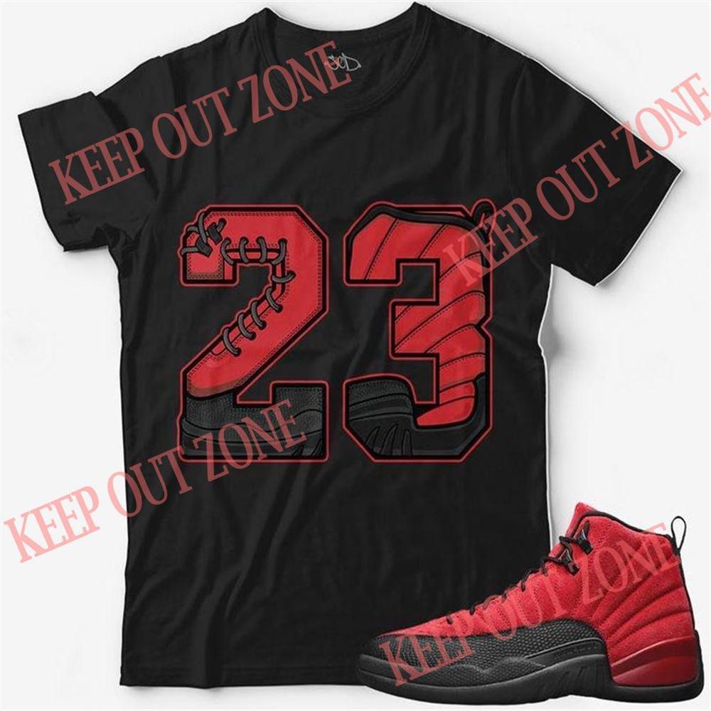 Terrific T-shirt Number 23 Unisex T-shirt Match Jordan 12 Reverse Flu Game New 2021