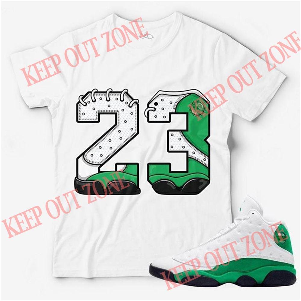 Amazing Tee Number 23 Unisex T-shirt Match Jordan 13 Lucky Green Brilliant T-shirt