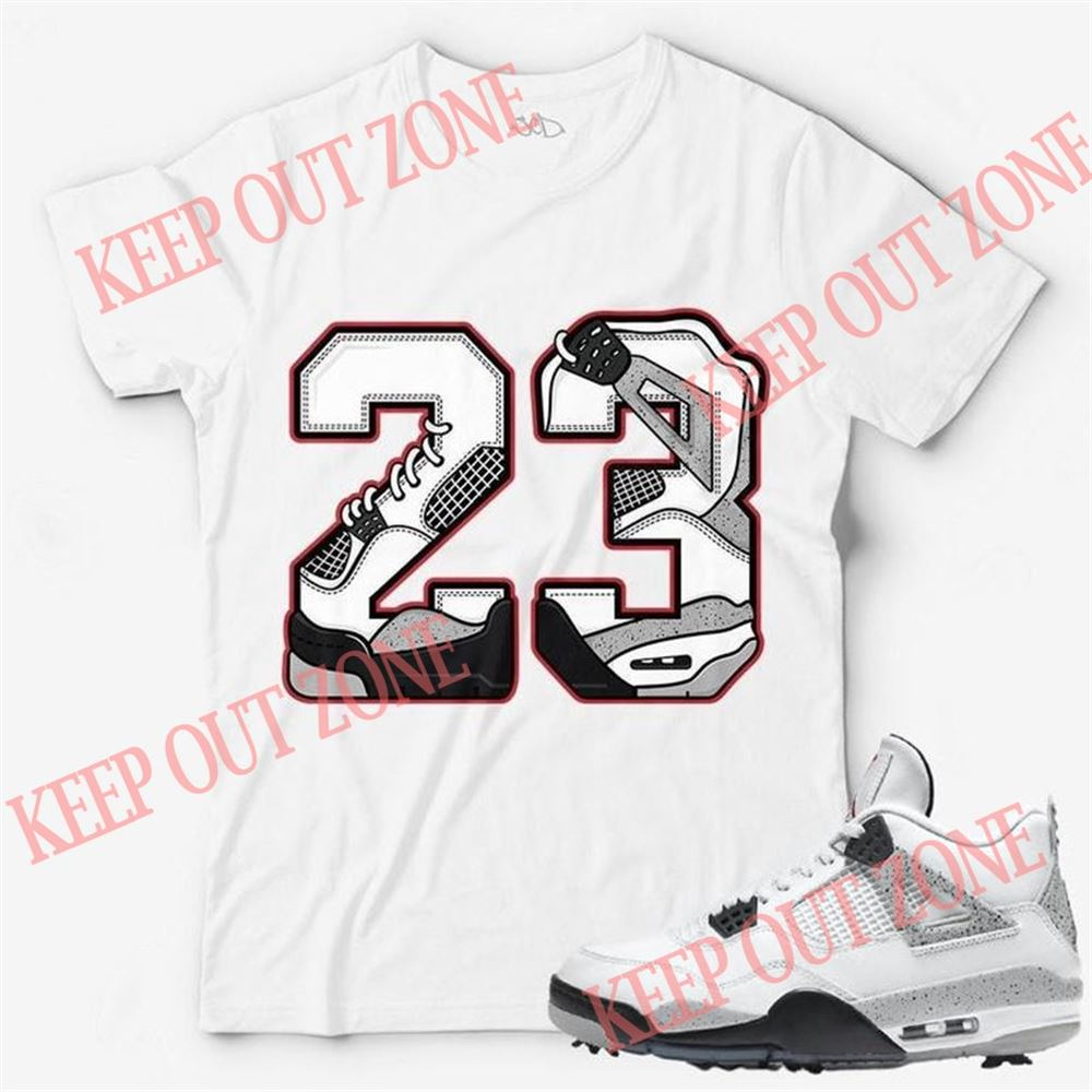 Awesome Tees Number 23 Unisex T-shirt Match Jordan 4 Golf White Cement So Epic