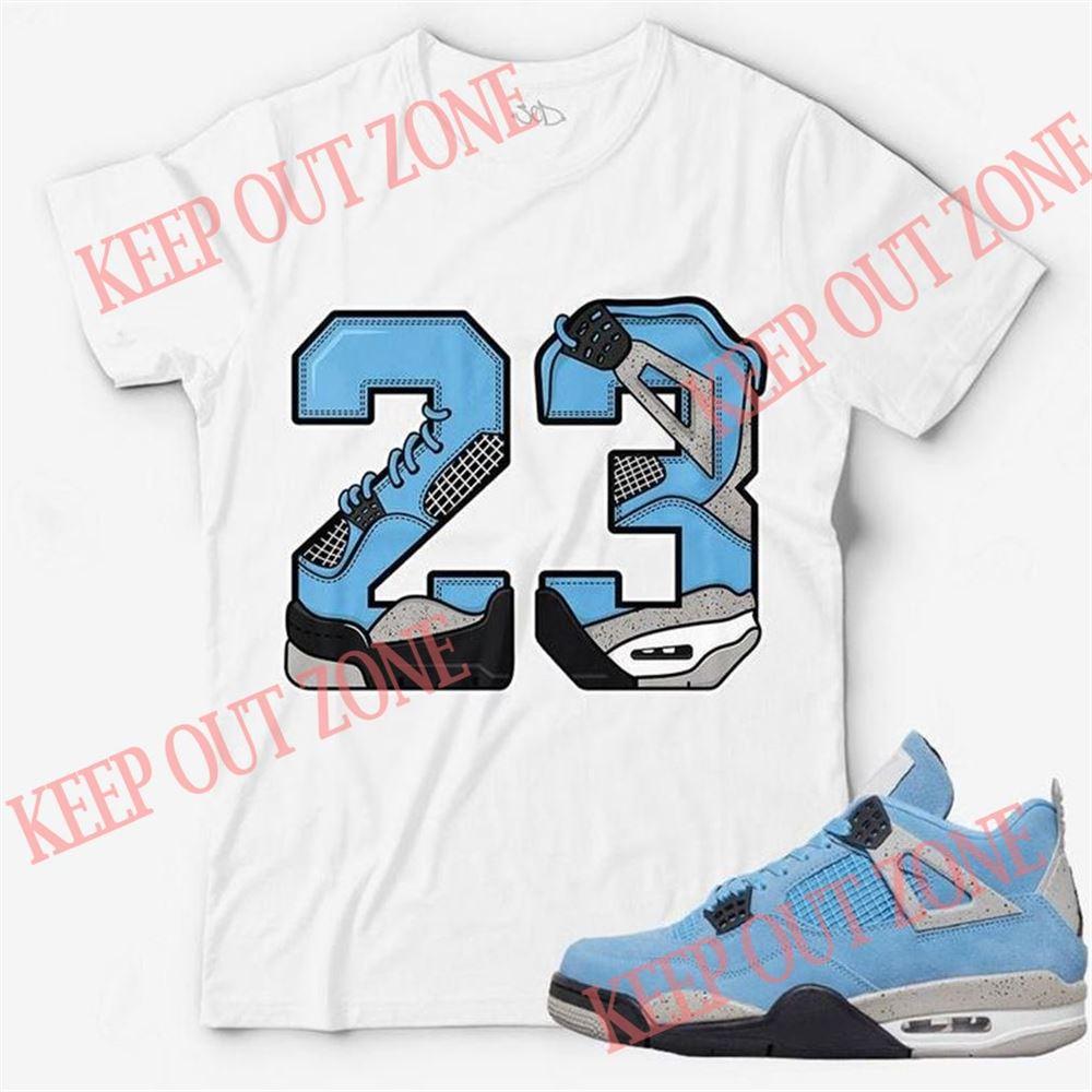 Awesome T-shirt Number 23 Unisex T-shirt Match Jordan 4 University Blue 100% Cotton