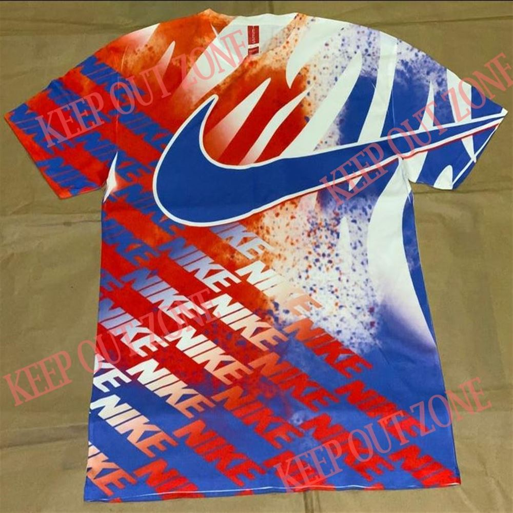 Amazing Red White Blue Nike Inspired Shirt Brilliant T-shirt