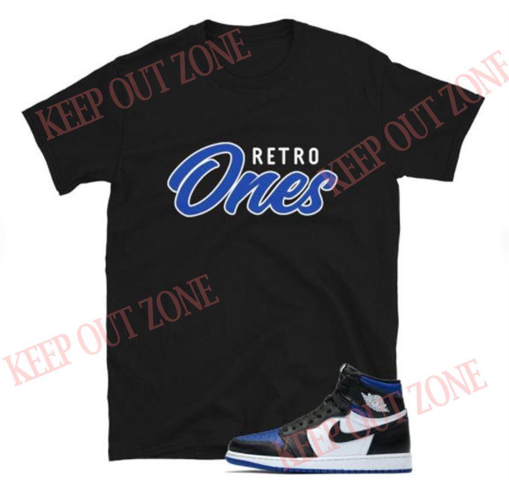 Great Tee Retro Ones Jordan 1 Royal Toe Unisex T-shirt Brilliant T-shirt