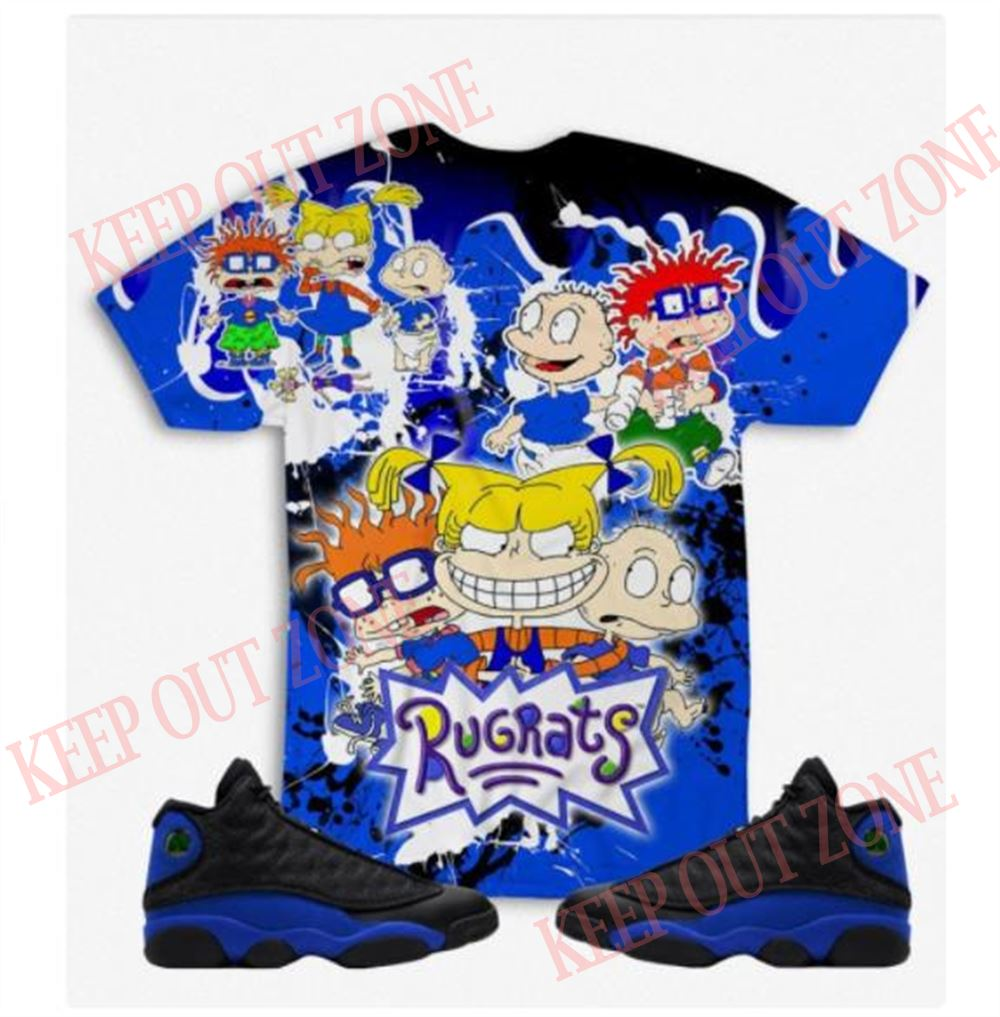 Great Tee Rugrats 3d Print Unisex T Shirt-hoodie-sweatshirt To Match Air Jordan 13 Retro Hyper Royal Hyper Royal 13 Unisex Shirt Hoodie Sweatshirt For Men And Women