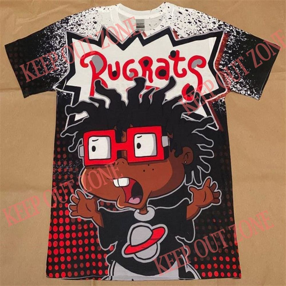Amazing Tee Rugrats Melanated Chuckie Jordan 5 Fire Red 14 Gym Red So Incredible