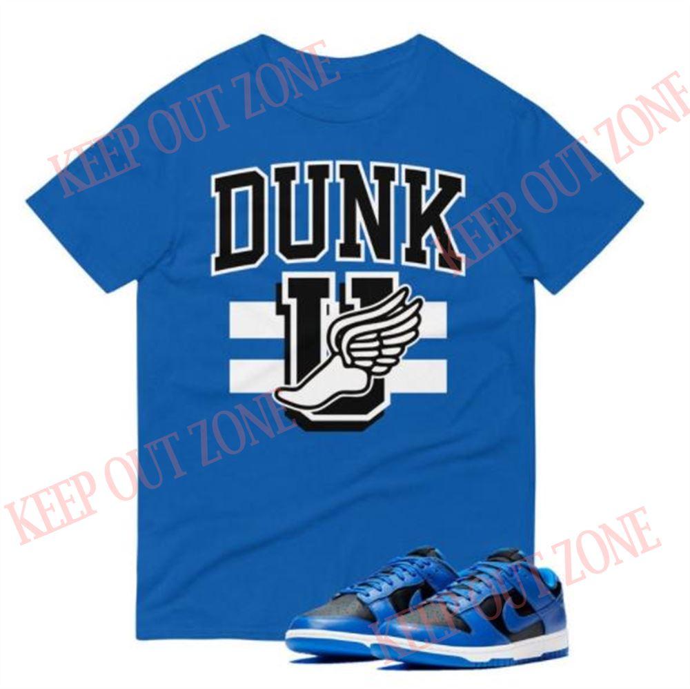 Terrific Schooled Tee Dunk Low Black Hyper Cobalt Unisex T-shirt Marvelous