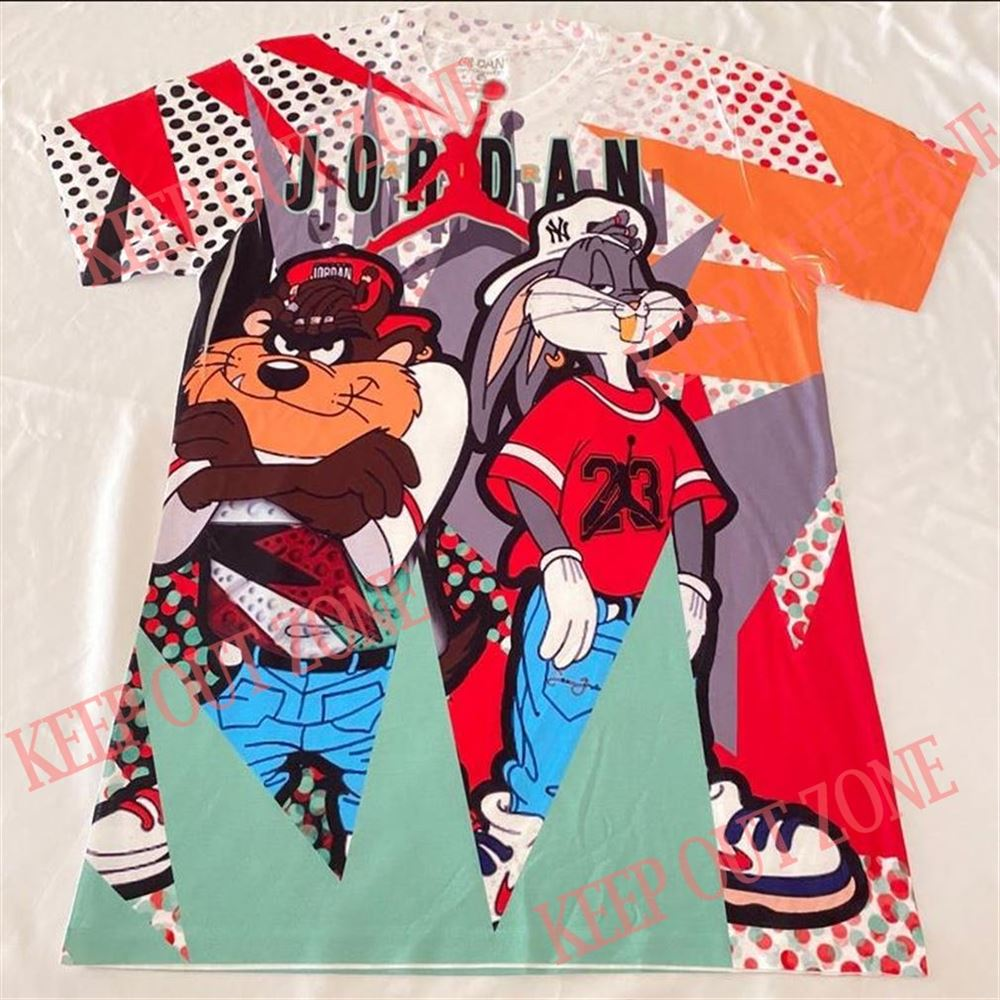 Great Tee Taz And Bugs Bunny Shirt Air Jordan Hare 6 Brilliant T-shirt