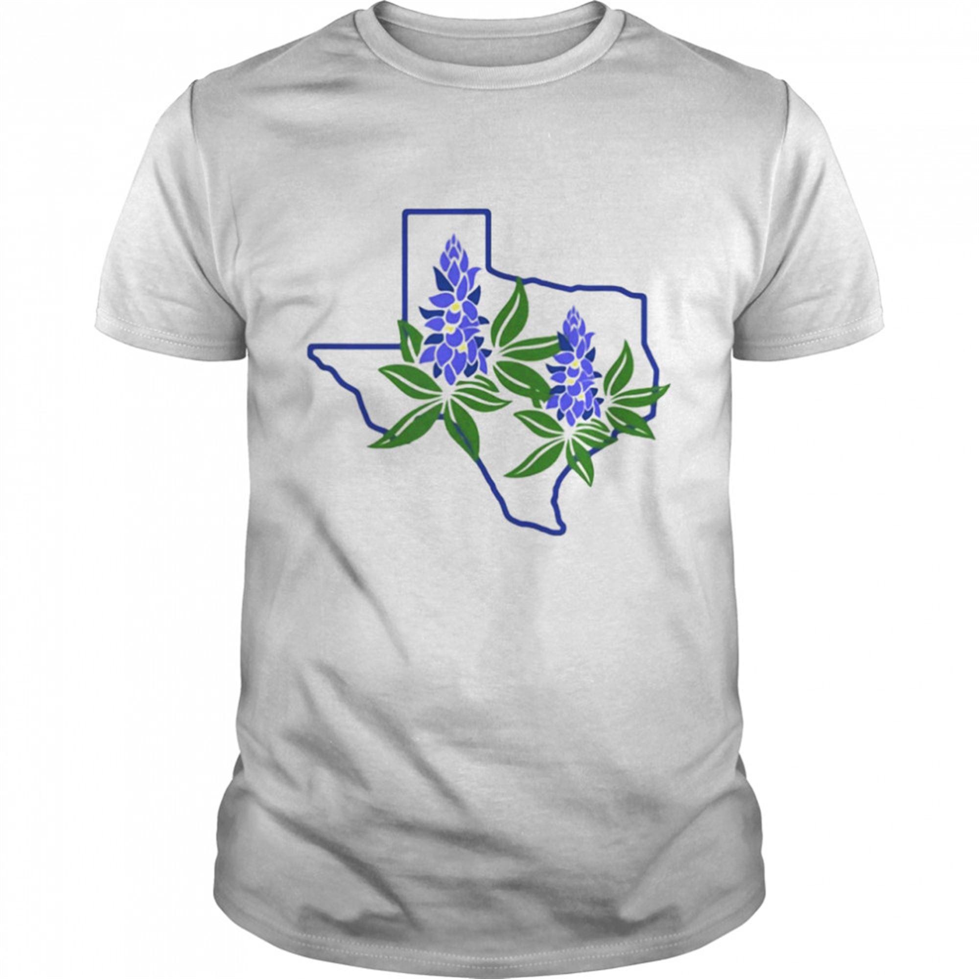Awesome T-shirt Texas Bluebonnet Wildflowers T-shirt Hot 2021