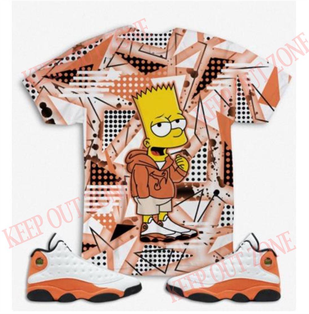Terrific The Simpson 2 Air Jordan 13 Starfish Jordan Retro 13 Starfish The Simpson Sneaker Tee Retro 13 Starfish Shirt Orange Retro 13 Shirt So Epic