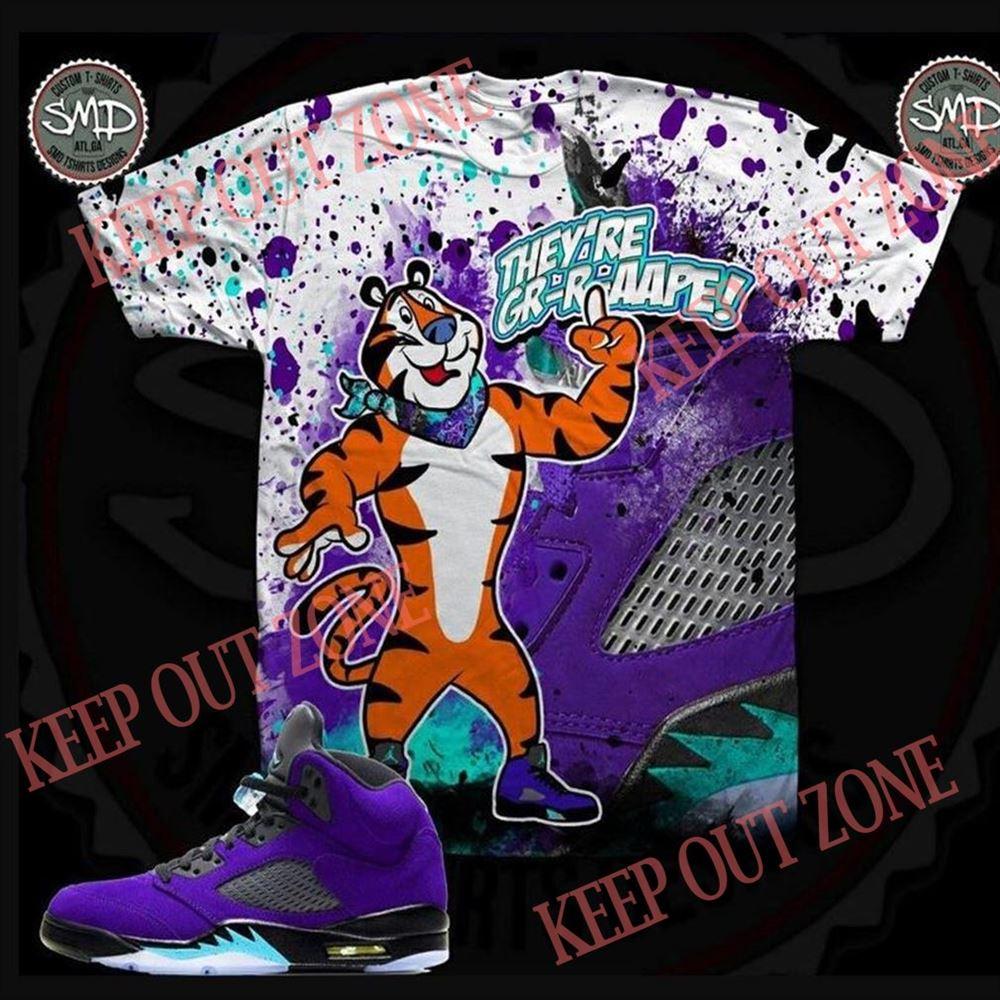 Terrific Theyre Grape Tony The Tiger Shirt Jordan 5 Alternate Grape Grape Jordan Shirt So Fabulous
