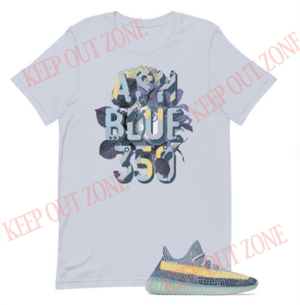 Cool Yeezy Boost 350 V2 Ash Blue Unisex T-shirt 2021 So Fabulous
