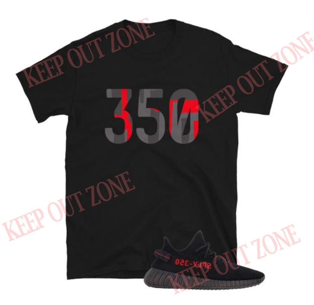Great Yeezy Boost 350 V2 Black Red Unisex T-shirt So Beautiful