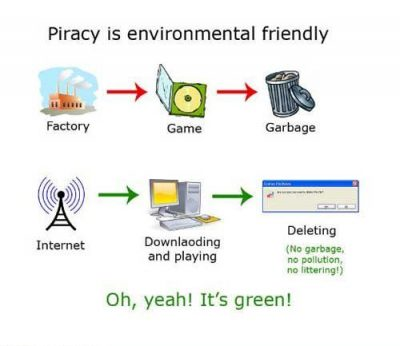 funny image Piracy is environmental friendly