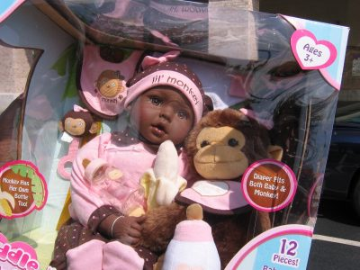 lil monkey racist doll