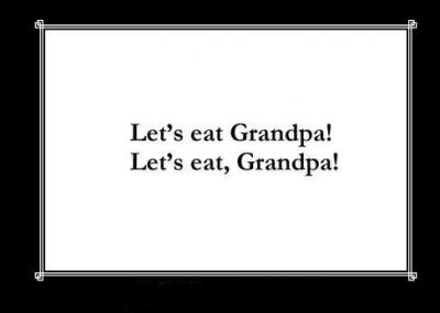 Commas save lives!