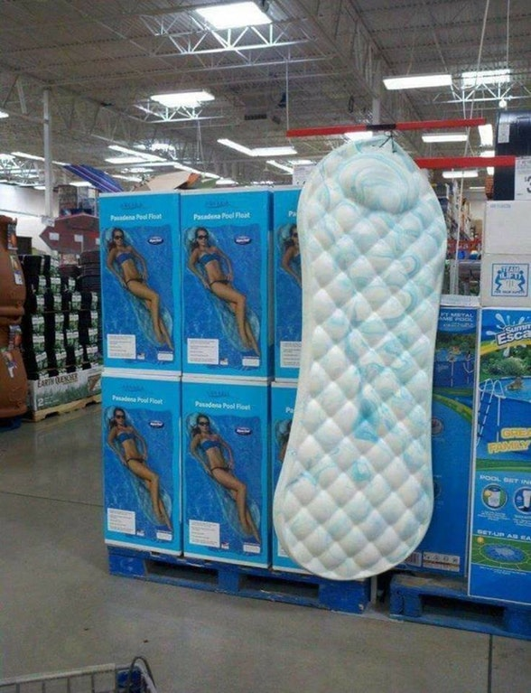 Pool Float That Looks Exactly Like a Maxi Pad