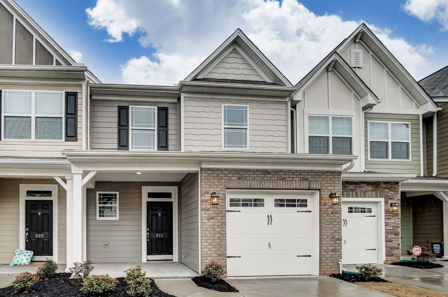 The Columbia townhome exterior