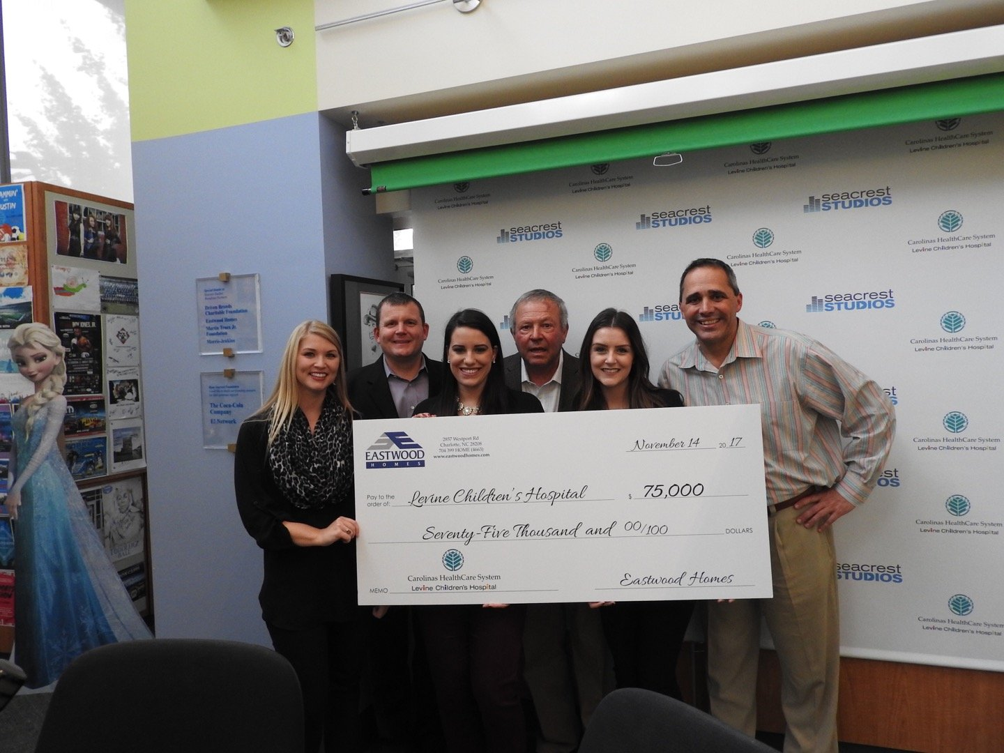2017 check presentation for golf outing
