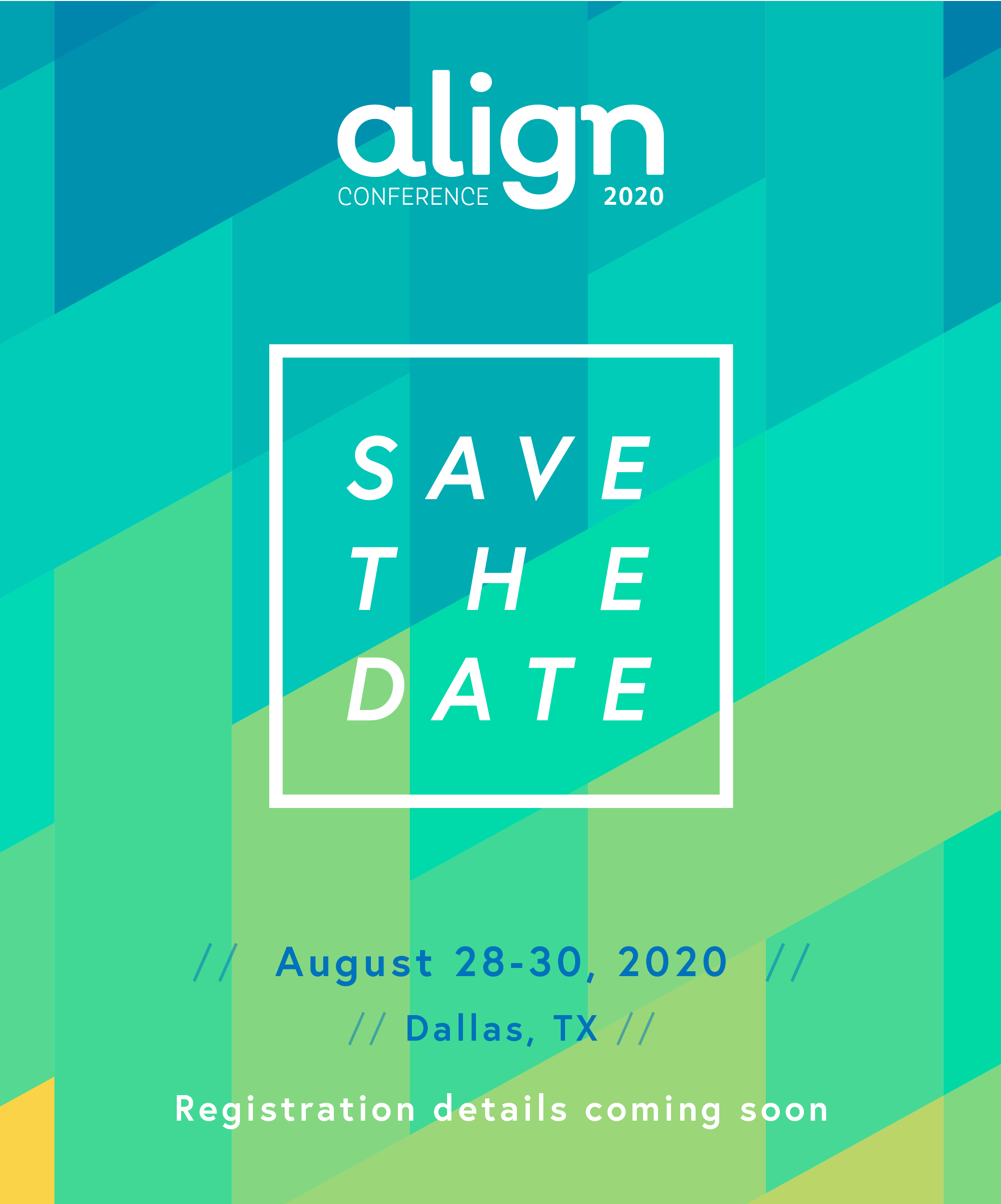 Align Save the Date