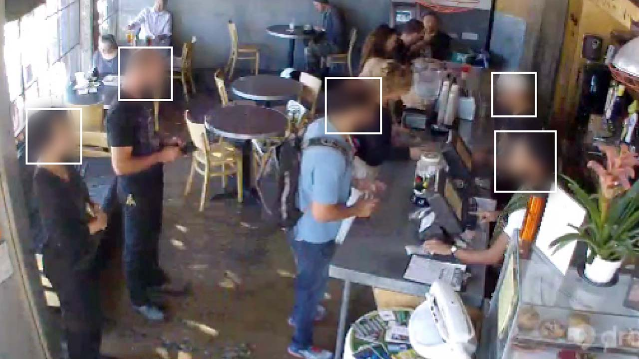 One of the 11,917 images in the Brainwash dataset captured from the Brainwash Cafe in San Francisco. Faces are blurred to protect privacy. Graphic by Adam Harvey (Exposing.ai) based on Brainwash dataset by Russel et. al.