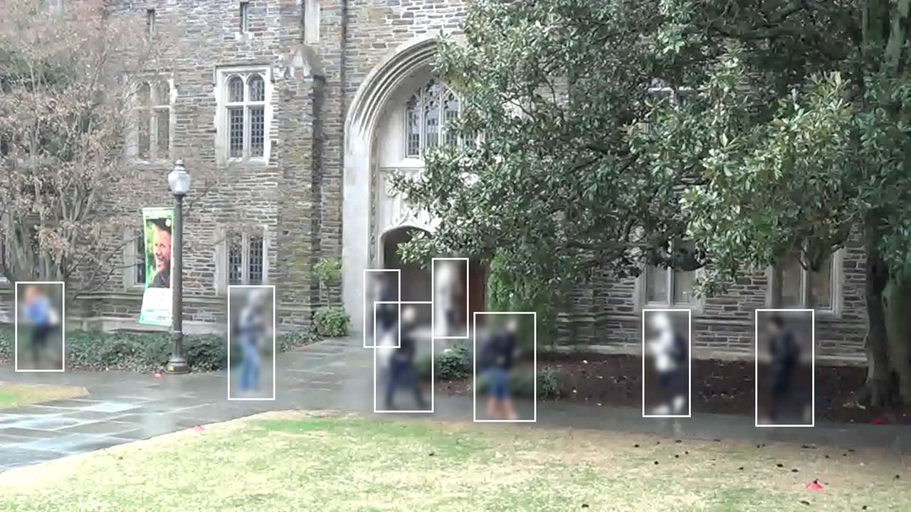 A still frame from the Duke MTMC (Multi-Target-Multi-Camera) CCTV dataset captured on Duke University campus in 2014. The dataset has now been terminated by the author in response to this report.