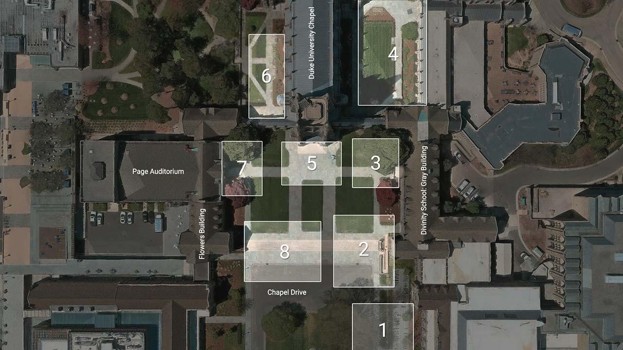 Duke MTMC camera locations on Duke University campus.