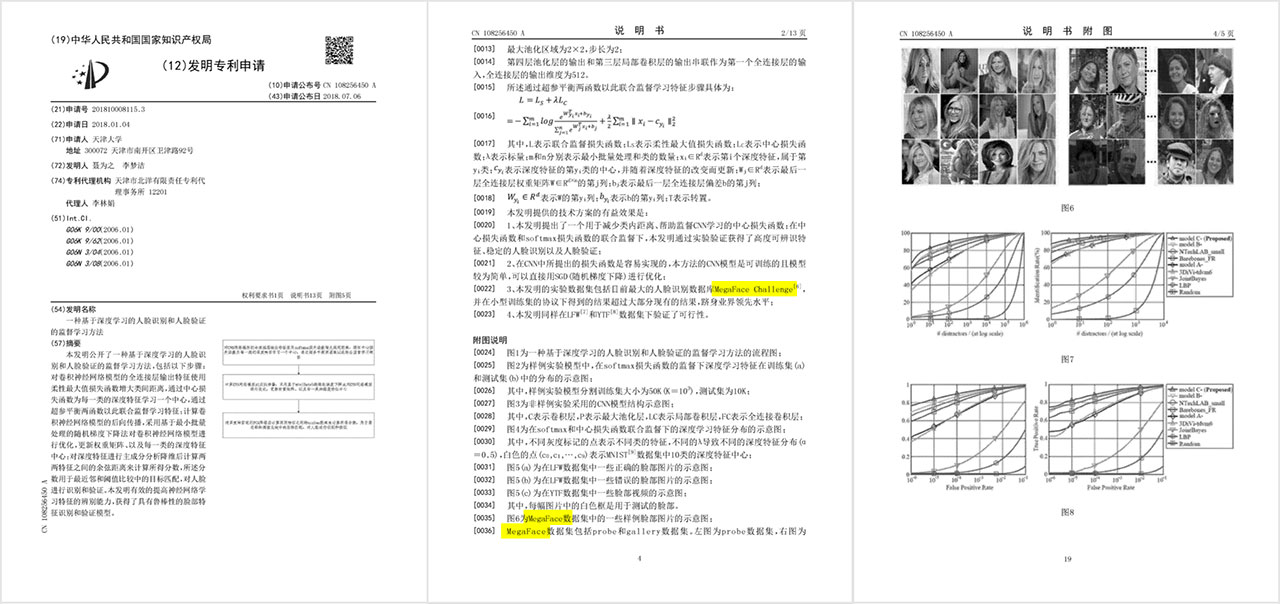 """[0035] FIG. 6 (text auto-translated) """"is a schematic of MegaFace showing face images in sample dataset"""""""