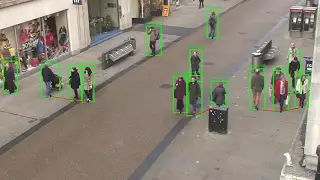A real-time object detection and distance measurement algorithm demonstrated on the Oxford Town Centre dataset. Source: youtube.com/watch?v=1s46BJJj6rw