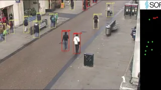 Social distance monitoring algorithm demonstrated on the Oxford Town Centre dataset. Source: youtube.com/watch?v=Hz25PAITNDc