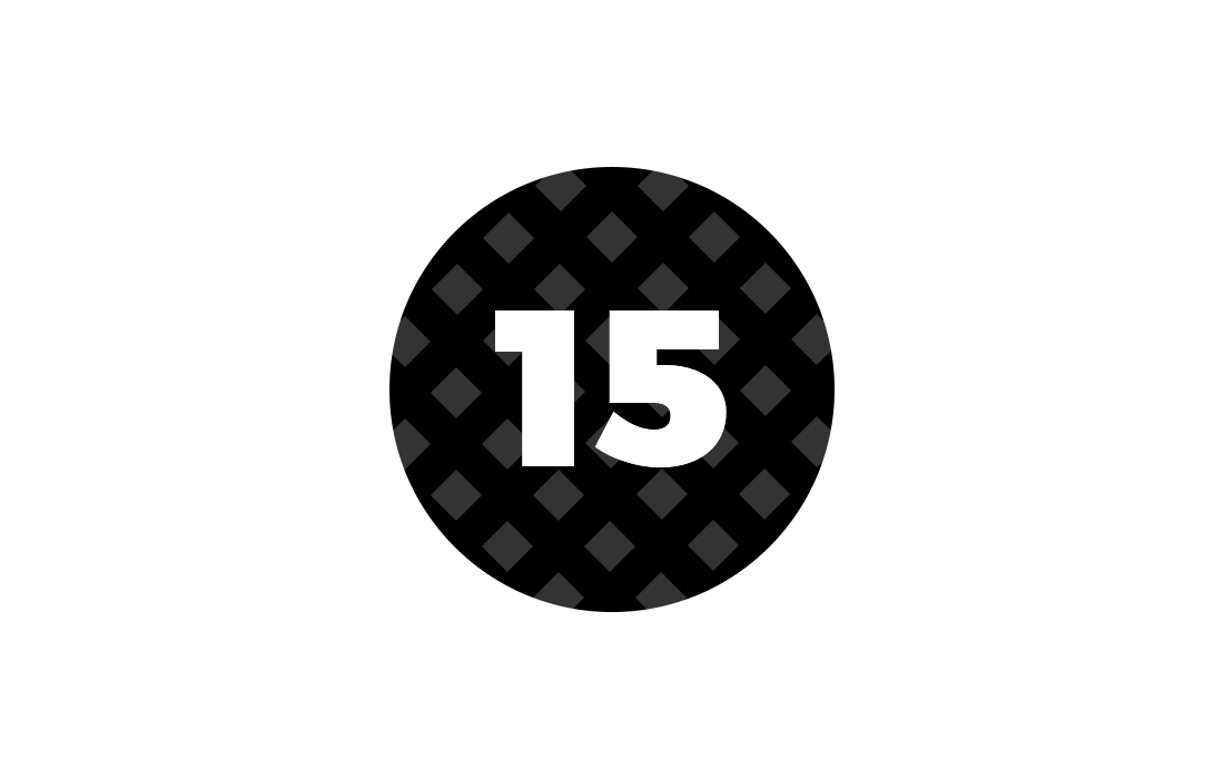 Circle with number 15