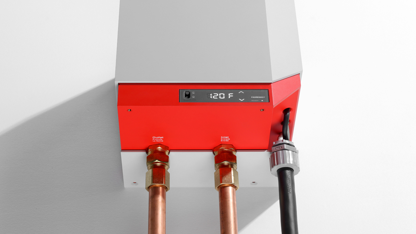 Heatworks' IoT-connected MODEL 3 smart water heater product strategy and experience design by frog