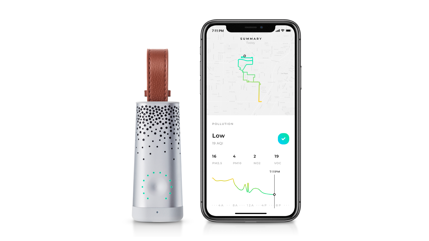 Flow air quality tracker offers real-time information about pollution levels through an app