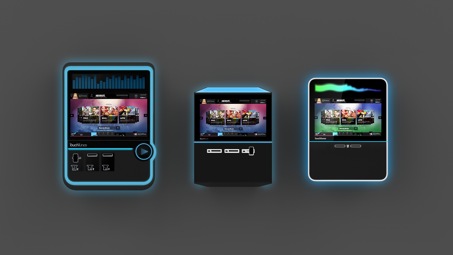 Touchtunes digital jukebox designs for an immersive music experience