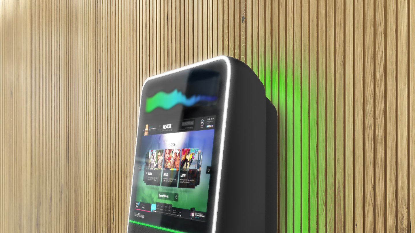 touchtunes modern jukebox with a digital interface