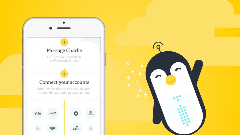 Charlie smart financial assistant UI design
