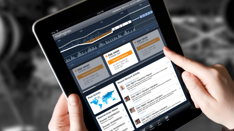 myEngines iPad application design for GE Aviation Digital transformation