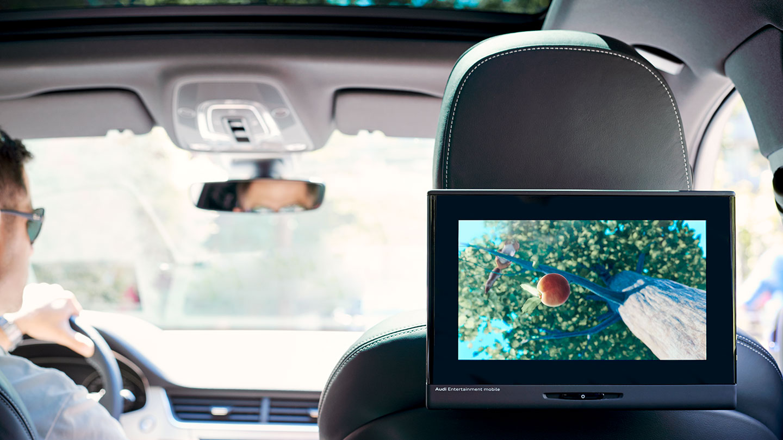 Audi Entertainment mobile in-car rear entertainment experience design