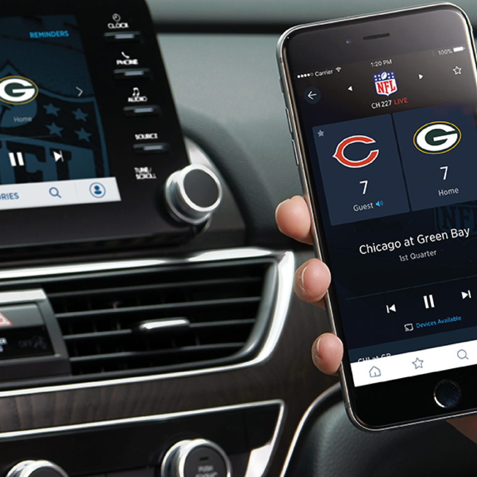 SiriusXM 360L, in-car entertainment UX design by frog, featuring on-demand audio streaming