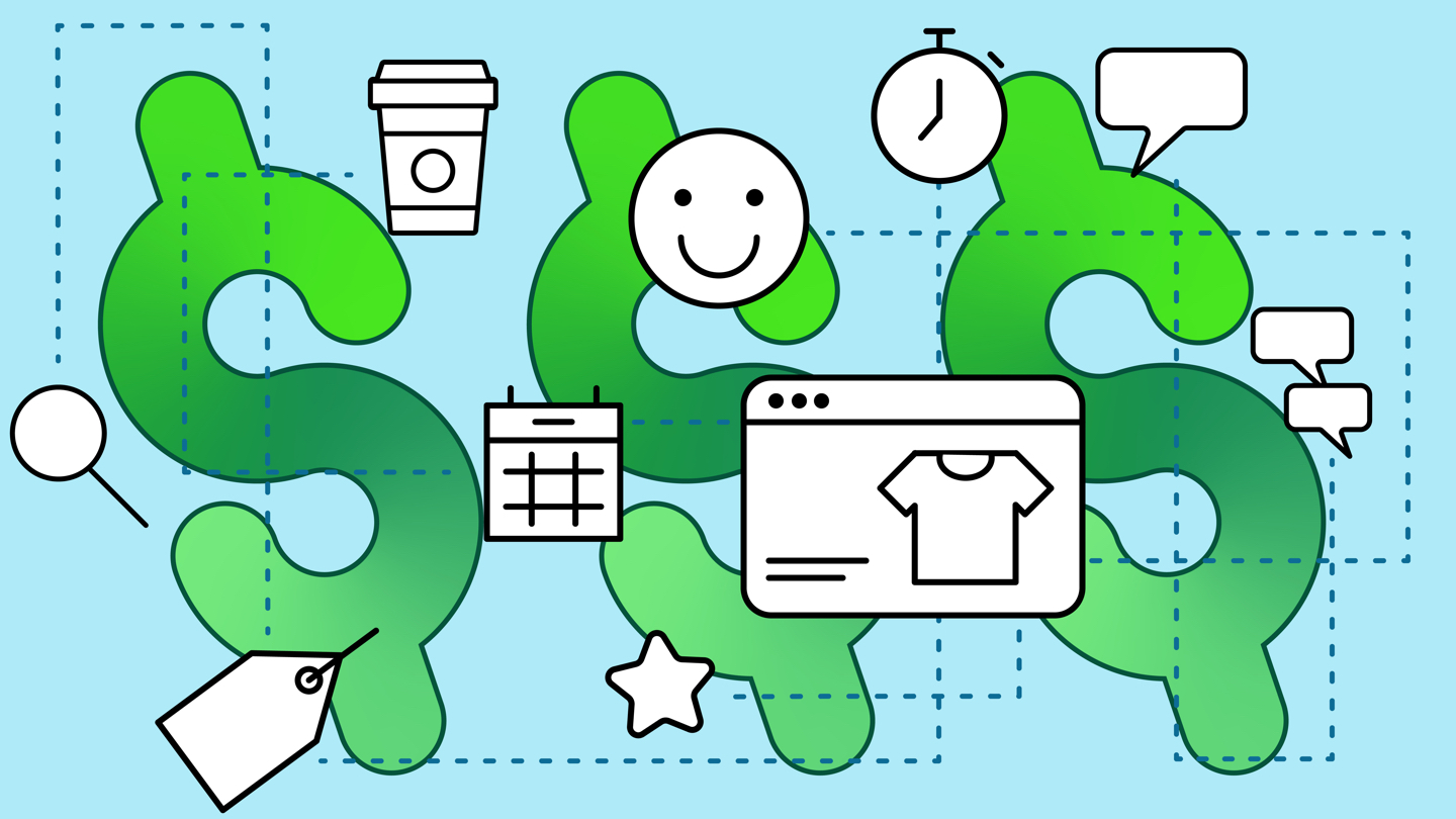 retail shopping experience illustration