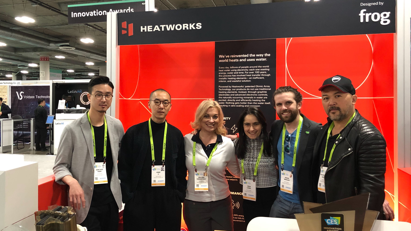 frog and heatworks team at CES