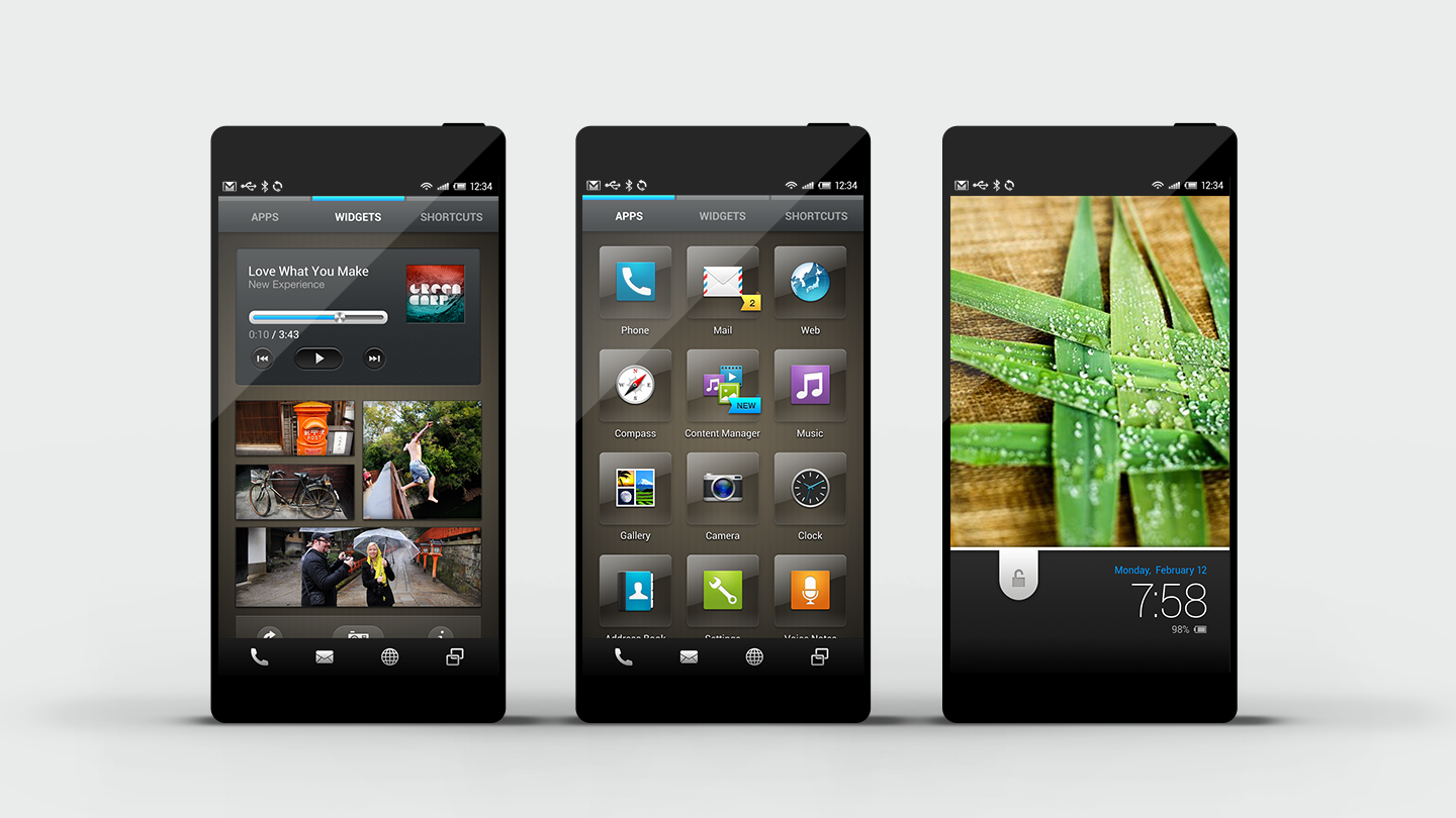 Feel UX: mobile user-experience design for Sharp Aquos phones
